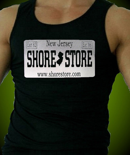Shore Store Gray License Plate M Tank Top