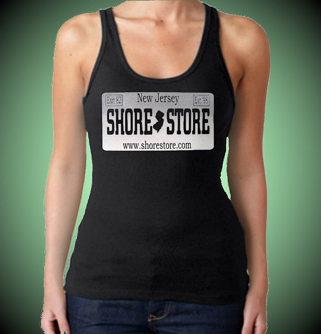 Shore Store gray License Plate W Tank Top