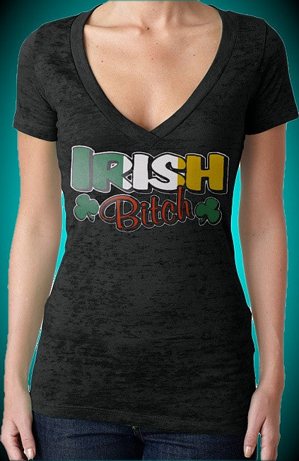 Irish Bitch Burnout V-Neck