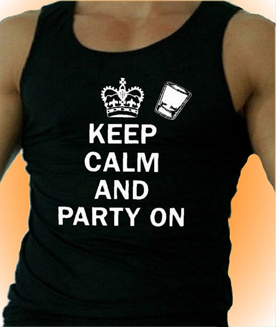 Keep Calm and Party On Tank Top Men's