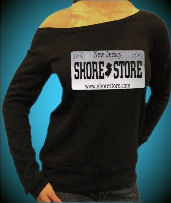 Shore Store License Plate Gray Off The Shoulder