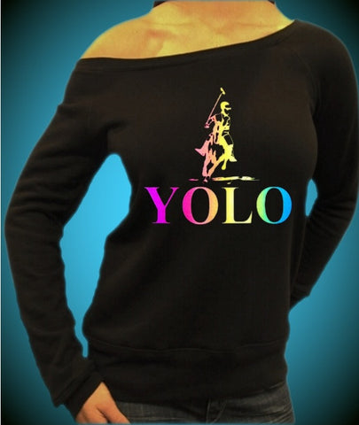Yolo Polo Neon Off The Shoulder Top