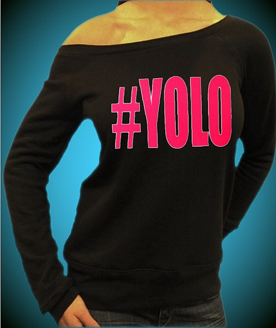 # YOLO Pink Off The Shoulder Top