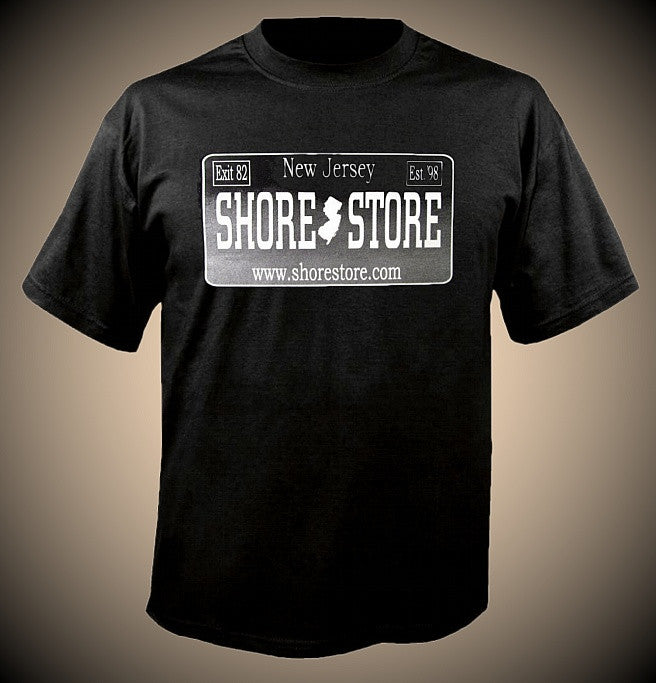 Shore Store Silver License Plate T-Shirt