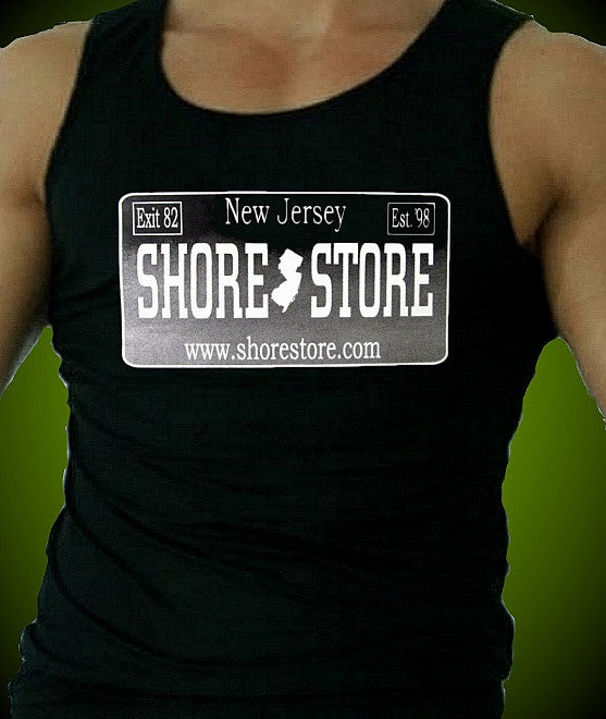 Shore Store Silver License Plate M Tank Top