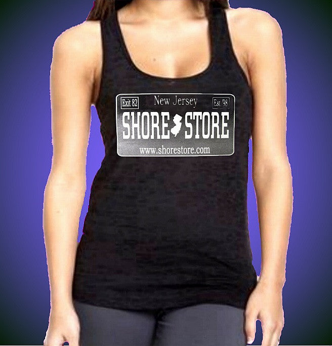 Shore Store Silver License Plate Burnout Tank Top