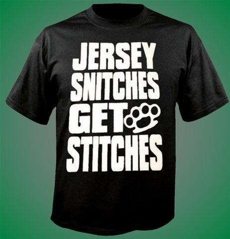 Jersey Snitches Get Stitches T-Shirt