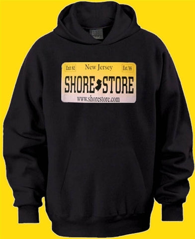 The Shore Store License Plate  Hoodie