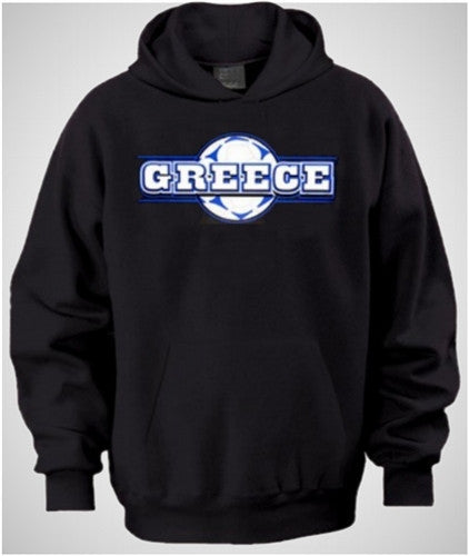 Greece Soccer Ball Background   Hoodie