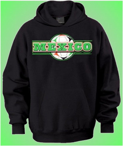 Mexico Soccer Ball Background   Hoodie