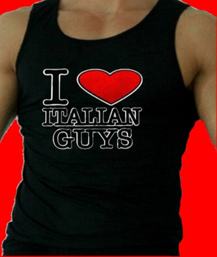 I Heart  Italian Guys   Men's Tank Top