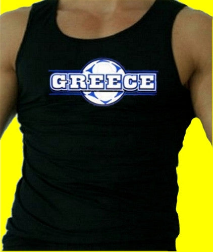 Greece Soccer Ball   Men's Tank Top