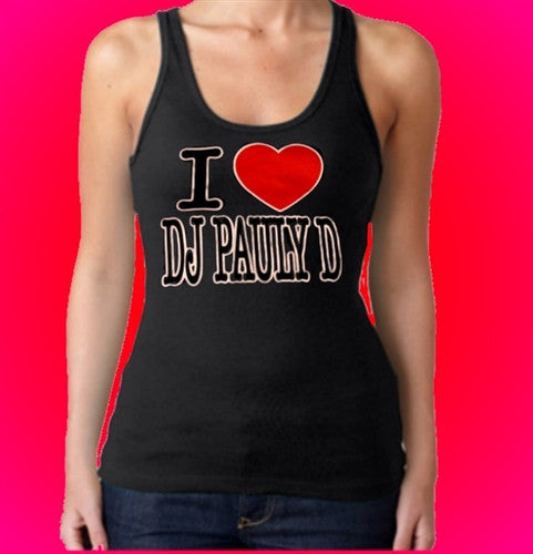 I Heart DJ Pauly D Tank Top Women's