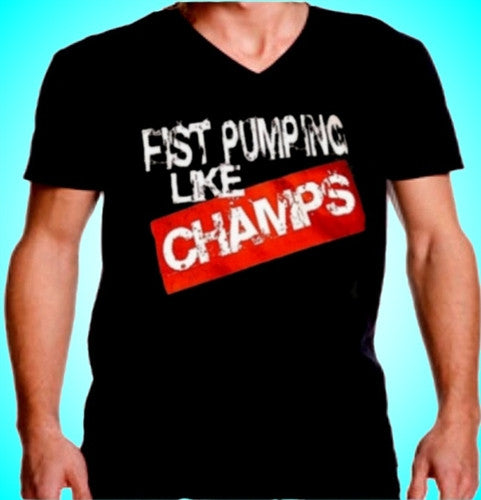 Fist Pumping Like Champs V-Neck