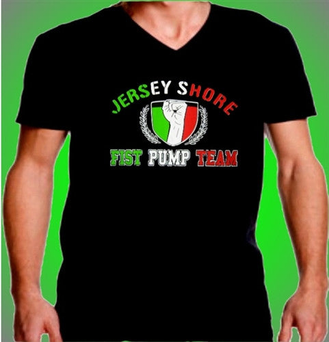 Jersey Shore Fist Pump Team V-Neck