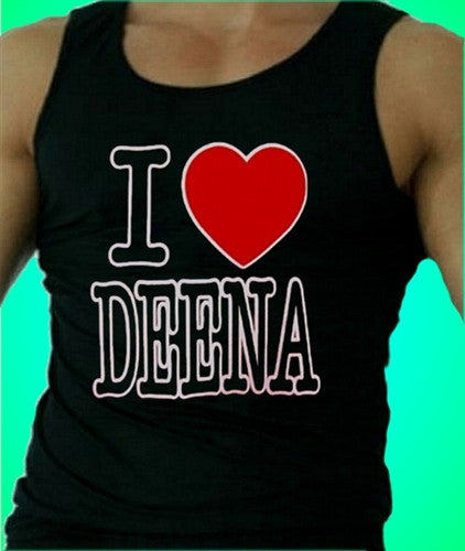 I Heart Deena   Men's Tank Top