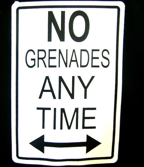 No Grenades Any Time V-Neck