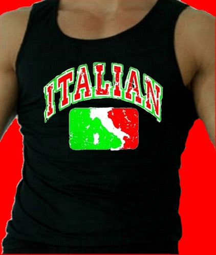 Italian Map   Men's Tank Top