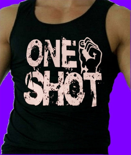 It only takes Ronnie One Shot to knock the guy out.  Men's Tank Top