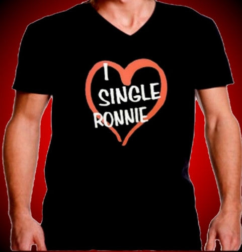 I Heart Single Ronnie V-Neck