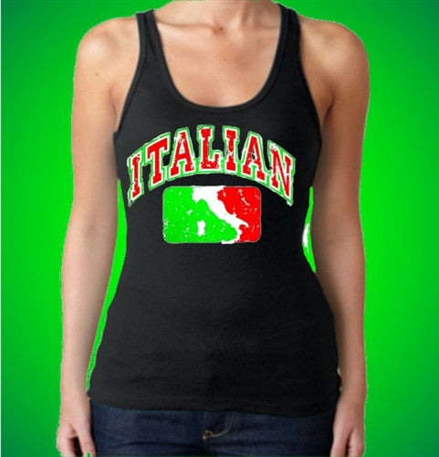 Italian Map  Women's Tank Top