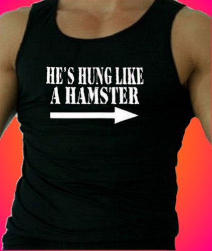 He's Hung Like A Hamster  Men's Tank Top