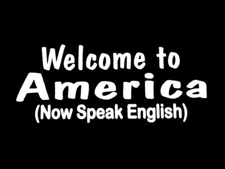 Welcome To America (Now Speak English) V-Neck