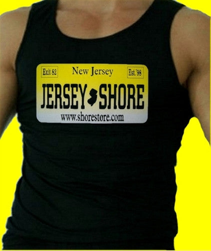 Jersey Shore License Plate Tank Top Men's