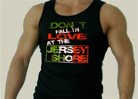 "Ronnie's Motto To Live By  ""Don't fall in love at the Jersey Shore"" Tank Top Men's"