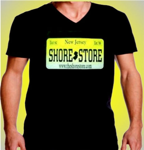 Shore Store License Plate V-Neck