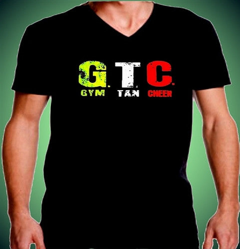 GTC Gym, Tan, Cheer V-Neck