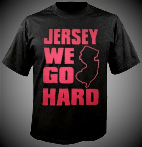 Jersey We Go Hard Hot Pink T-Shirt