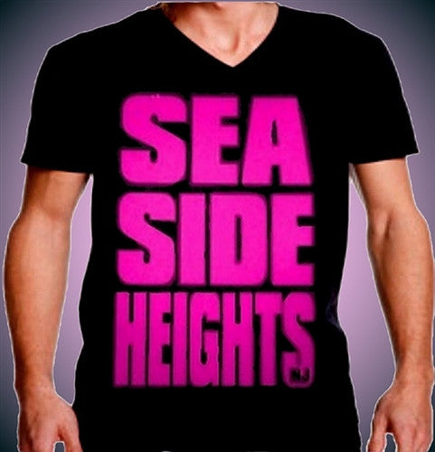 Seaside Heights Hot Pink V-Neck