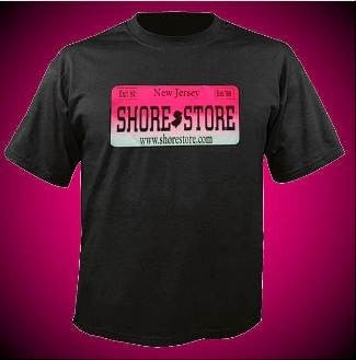 Shore Store License Plate Hot Pink T-Shirt