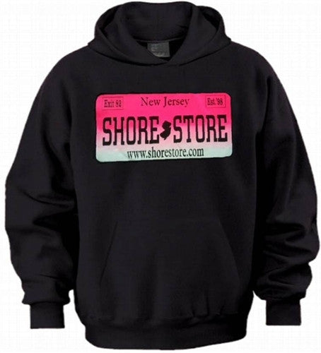 Shore Store License Plate Hot Pink Hoodie