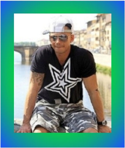 Pauly D T Shirt Black with White Star