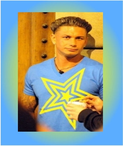 Pauly D T Shirt Blue with Yellow Star