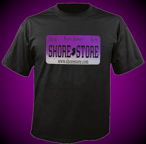 Shore Store License Plate Purple T Shirt