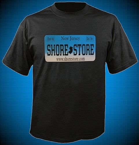 Shore Store License Plate Aqua T Shirt 385