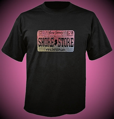 Shore Store License Plate Pink Rhinestone T-Shirt