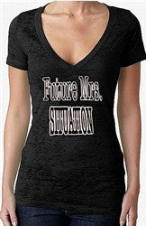 Future Mrs. Situation Burnout V-Neck Women's