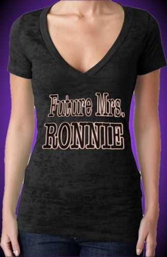 Future Mrs. Ronnie Burnout V-Neck Women's