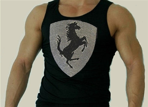 Rhinestone Italian Stallion Tank Top Men's