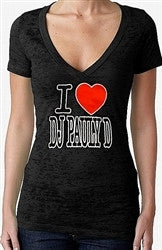 I Heart Pauly D Burnout V-Neck Women's
