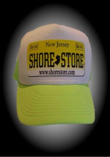Shore Store License Plate Hat-Yellow Decal. One Size
