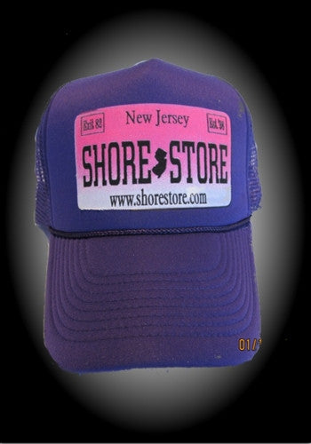 Shore Store License Plate Hat-Pink Decal. One Size.