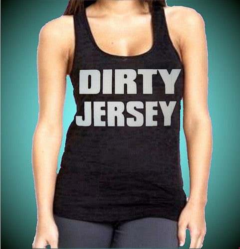 Dirty Jersey Burnout Tank Top Women's (Dark Purple Shown)