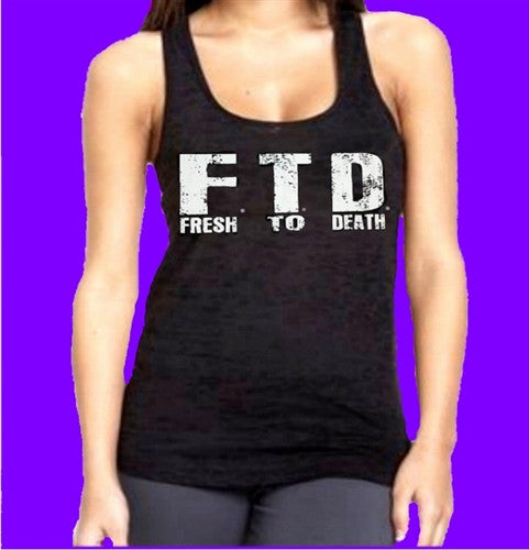 FTD Fresh To Death Burnout Tank Top Women's