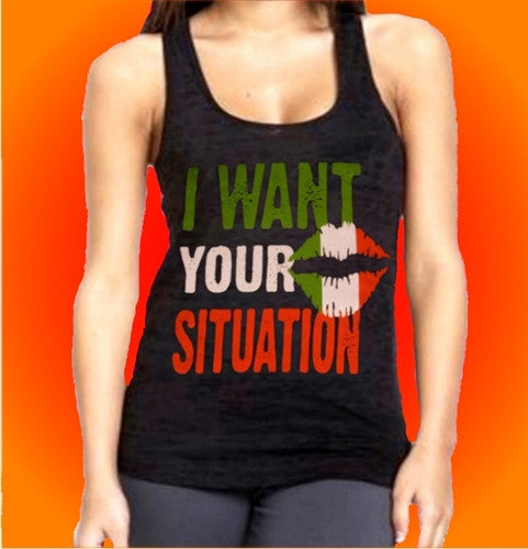 I Want Your Situation Burnout Tank Top Women's