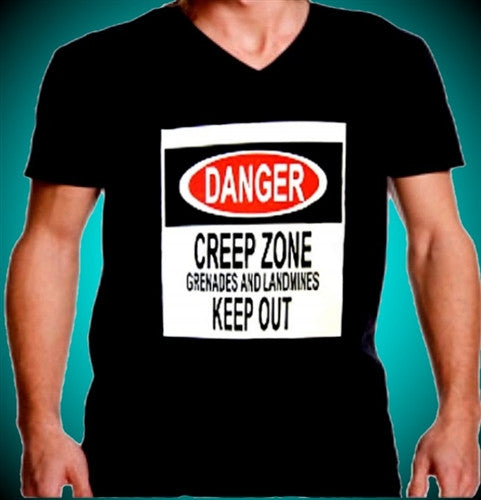 DANGER CREEP ZONE  V-Neck